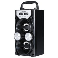 Portable High Power Output FM Radio Wireless Bluetooth Speaker Supports TF Card USB Volume Control Led