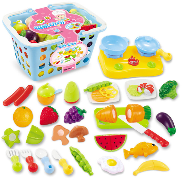 2018 New 9 Types 1 Set Pretend Play Children Simulation Kitchen Food Fruit Vegetable Cutting Kids New Year Gift Educational Toy