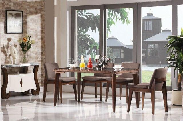 2019 juegos de mesa de comedor Antigos Para Sala muebles de madera ...