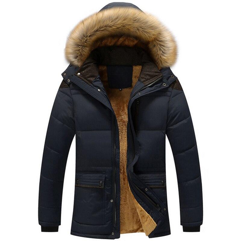 Grande taille 5XL hommes chaud hiver manteau varsité épais polaire kaki Parka décontracté à capuche multi-poches hommes manteau veste noir