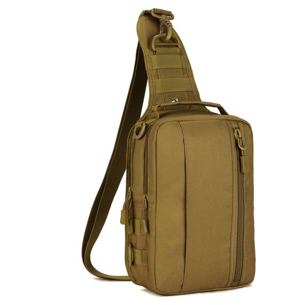 2018 Jauni vīrieši ūdensizturīgi 1000D Nylon militāro ceļojumu braukšana ar augstu ietilpību slīdēšanas pleca Messenger krūtīm Ipad soma