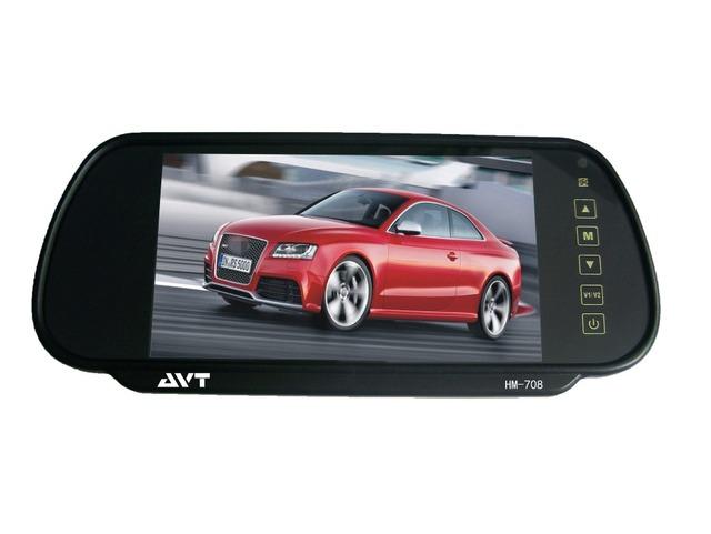 Pantalla digital de ALTA DEFINICIÓN 800x4 80 pantalla revertir pantalla de 7 pulgadas de coches retrovisor espejo de pantalla del vehículo, coche que labra
