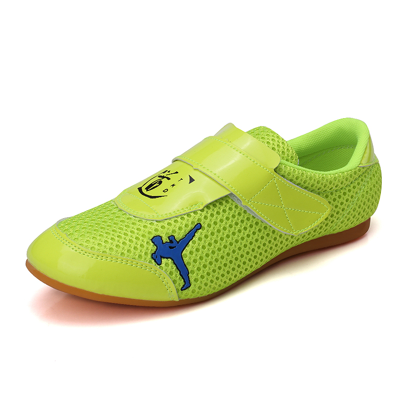 Taekwondo Karate Green Breathable Shoes Martial Arts Sneaker kids Sport shoes Professional Training shoes  Competition Victory