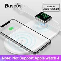 Baseus 2 в 1 Беспроводное зарядное устройство для Apple Watch 2/3 iPhone X Xs Max XR Born для поклонников Apple (не поддерживает Apple Watch Series 4)