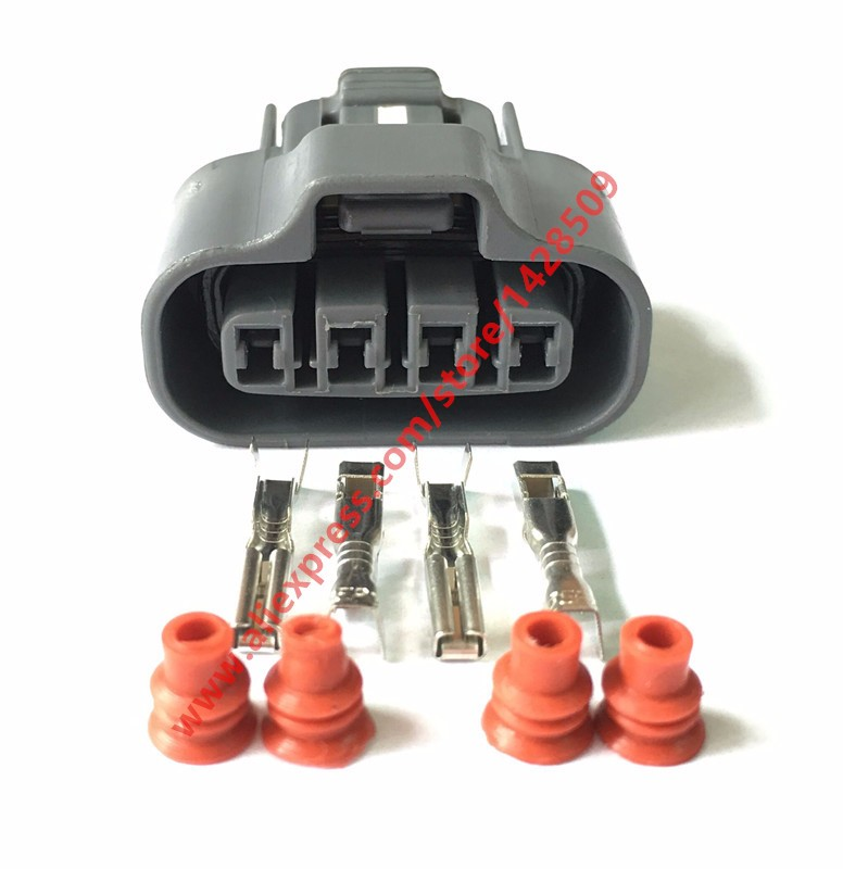 10 Sets 4 Pin Waterproof Female Auto Electric Wire Connector Automotive Cable Housing Plug ST