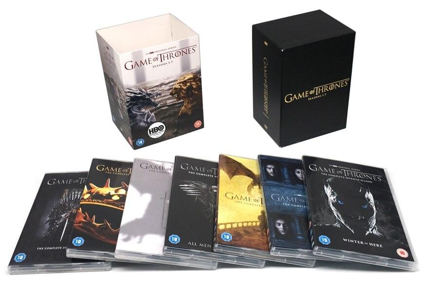 Game of Thrones Season 1 2 3 4 5 6 7 34 DVD Discs English Box