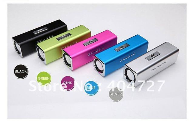 Brand New Micro SD/TF card/USB drive Portable Speaker Free Shipping