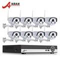 8-КАНАЛЬНЫЙ Onvif H.264 NVR Network Video Беспроводная Система ВИДЕОНАБЛЮДЕНИЯ 2.0 Мегапиксельная 1080 P WI-FI Ip-массив Камеры ИК Открытый CCTV Камеры 3 ТБ HDD