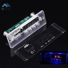Мини 5-12 В Синий Свет MP3 Декодер Аудио Декодирования Доска Отображения Времени Поддержка U-диск TF Карта USB FM, AUX Декодирования