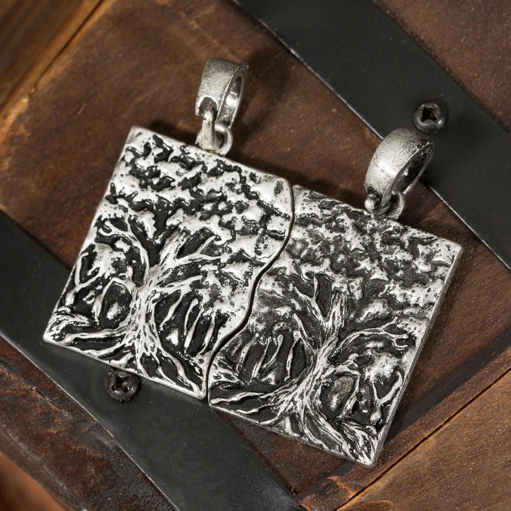 1 шт. Викинги пары подвеска с леопардом подарок для влюбленных жизнь дерева ювелирные изделия талисман Гепард Шарм