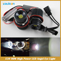 E39 90 W LED Angel Eyes Anel Marcador Lâmpadas para E39 E60 E63 E65 E53 1 5 6 7 Series X3 X5