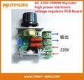 Navio rápido 5 pcs AC 220 V 2000 W tiristor de alta potência regulador de tensão eletrônico para dimmer, velocidade e Placa de temperatura controlada