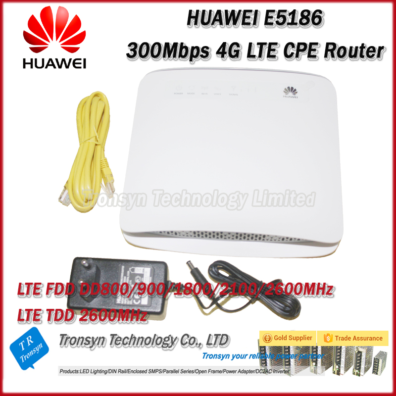 Wholesale Original Unlock 300Mbps HUAWEI E5186S-22A 4G LTE WiFi CPE Router With Sim Card Slot And RJ11,USB ,LAN Port wholesale original unlock huawei e5786 300mbps 4g wireless router with sim card slot and 4g lte cat6 mobile wifi router