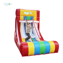 Outdoor Carnival Game Inflatable Bouncer With Basketball Hoop Inflatable Basketball Game