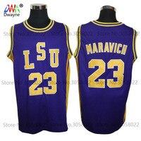 Dwayne Mens 23 Pete Maravich Pistol LSU College Cheap Throwback Basketball Jersey Retro Jerseys Vintage Basket