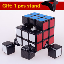 Original puzzle 3x3x3 speed magic cubes pvc sticker block professional learning educational cubo magico funny font