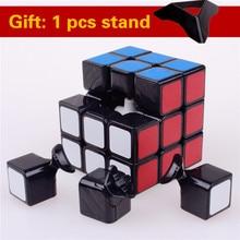 57mm shengshou 3x3x3 puzzle autocolant magie viteză cub profesionale jucării clasice pentru copii