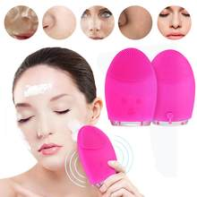 Face Cleaning Mini Electric Massage Brush Washing Machine Waterproof Silicone Cleansing Tools(China)