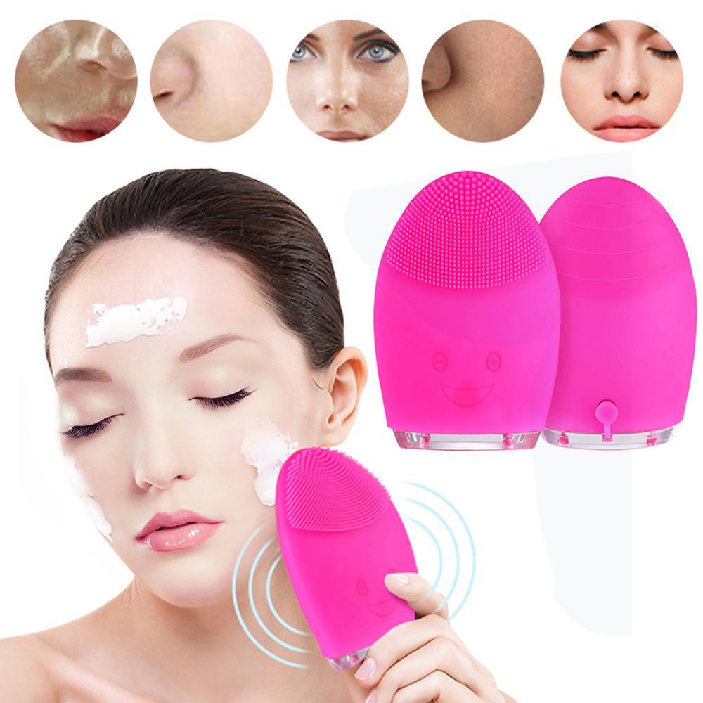 Gesicht Reinigung Mini Elektrische Massage Pinsel Waschmaschine Wasserdichte Silikon Reinigung Werkzeuge