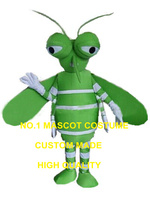 New Summer Green Mosquito Mascot Costume Audlt Size Health Care Theme Anime Cosplay costumes carnival fancy dress kits 2501