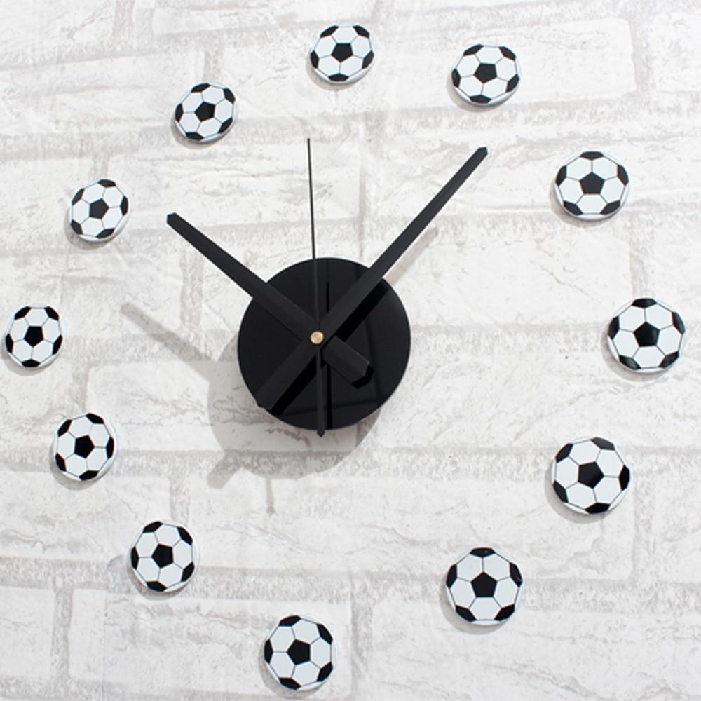 Football Design Wall Clock : D creative football funny wall clock modern