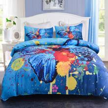 Juego de cama Boniu diseño de mariposa para niños, funda de edredón suave Vintage 3d con fundas de almohada, colcha doble tamaño King AU/UK