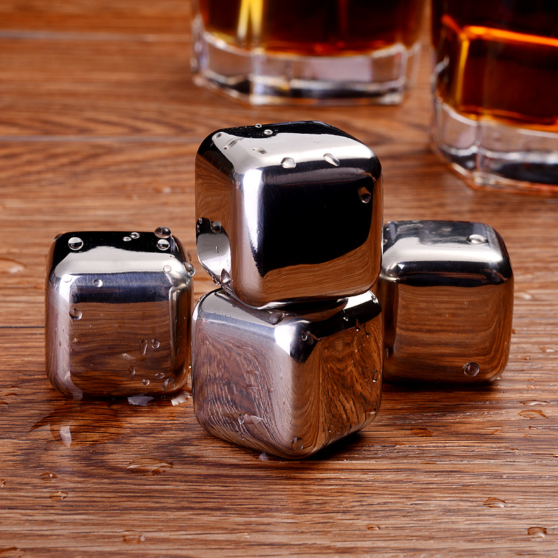 Drixon #304 Stainless Steel Whiskey Stone Ice Cube Stones Whisky Wine Beer Cooling Tool With Plastic Box