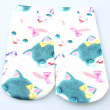 CharmDemon Hot Sale Women Cute 3D Socks Beauty Short Printed Funny Cotton Sock st16