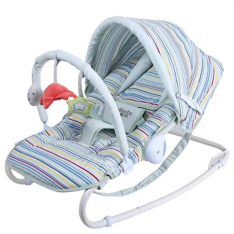 2019 vente directe haut à la mode en métal multi-fonctionnel bébé chaise berçante berceau nouveau-né cadeau bébé lit - 3