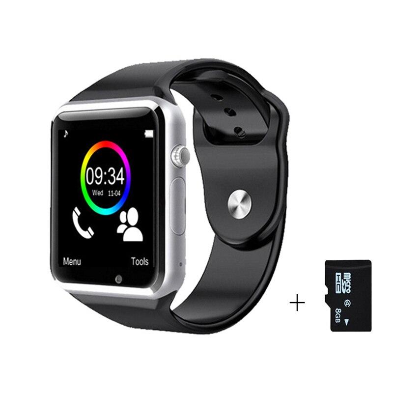 imágenes para Envío ePacket gratis Reloj Bluetooth A1 Reloj Inteligente Podómetro Deporte apoyo SIM Cámara Smartwatch Para Android Smartphone
