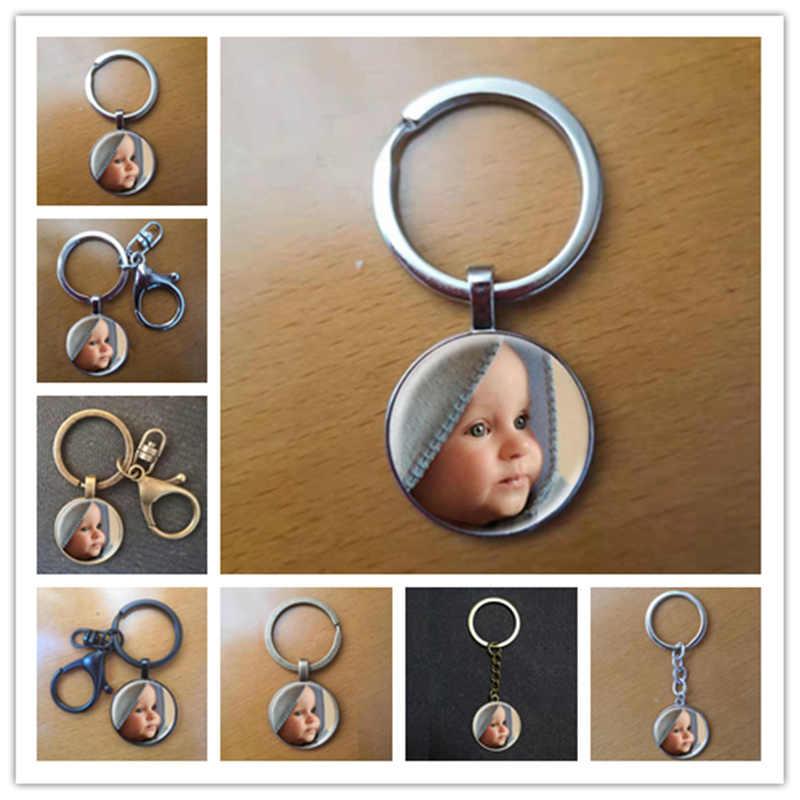 Personalizado foto pingente chaveiro personalizado foto de seu bebê criança mãe pai avós como um presente para um membro da família presente