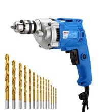 Electric Drill Household Electric Screwdriver Iron Chuck Copper Wire Electrodeless Speed Regulation of Electric Drill Power Tool