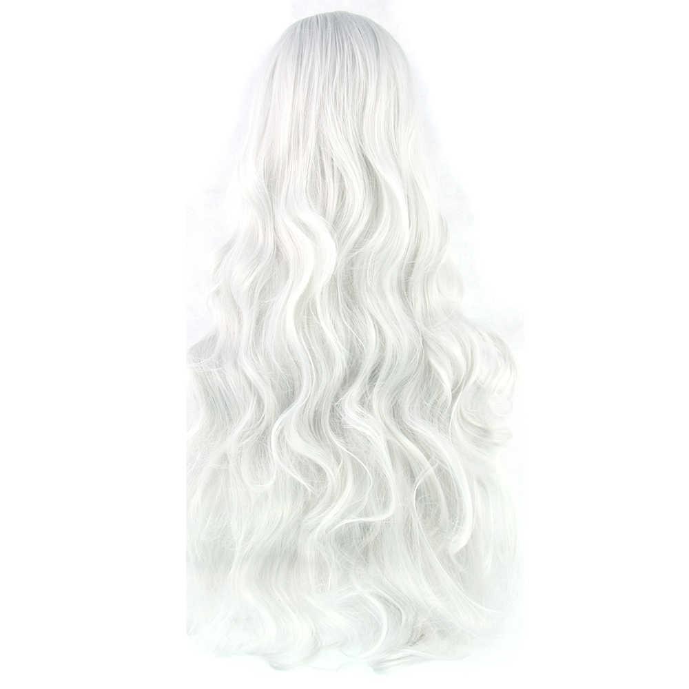 Soowee 20 цветов 32 дюймов длинные женские парики синтетические волосы термостойкие белый черный волнистые косплей парик вечерние аксессуары для волос