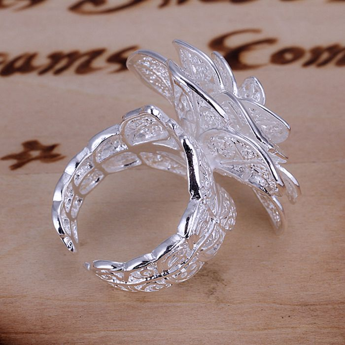 925 silver plated ring free shipping worldwide