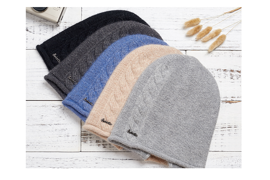 2018 New Women Baggy Bonnet Beanies Female Rabbit Hair Wool Knitted Winter Hats Soft Skiing Slouchy Beanie With Back Opening (4)