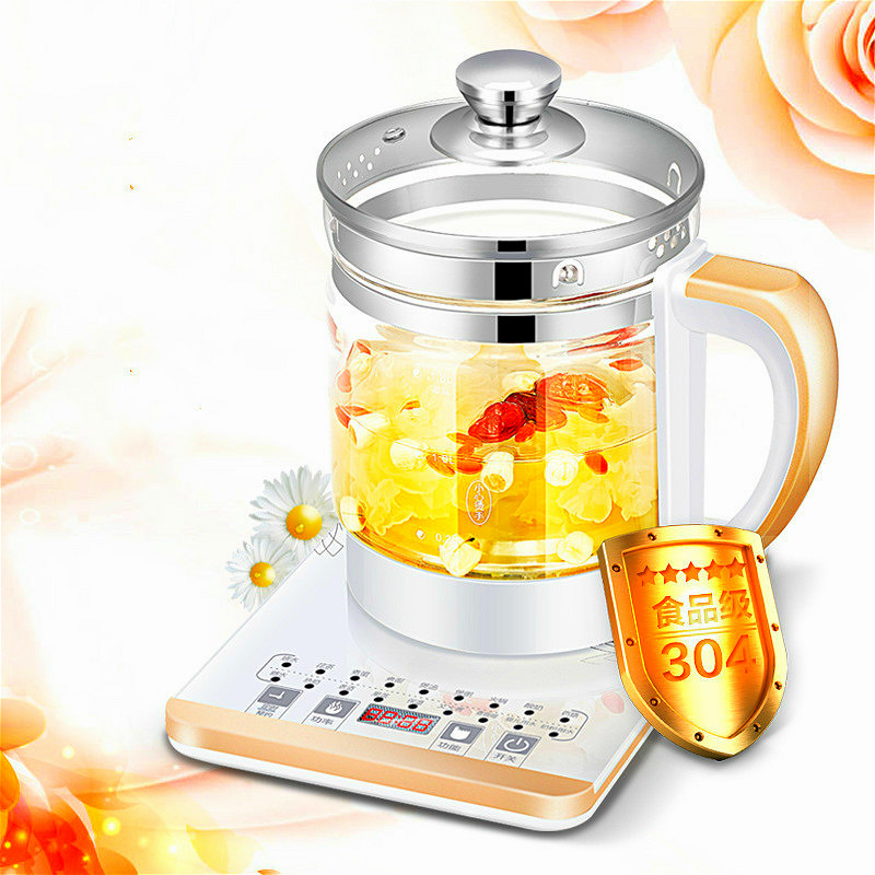 110V USA Japan Electric Kettle 18 Functions Thermal Insulation Glass Boiling Pot 1.5L Anti-dry Health Preserving Pot Automatic x32 3 5l automatic electric kettle ceramics boil herb pot porcelain health preserving pot easy to clean microcomputer control