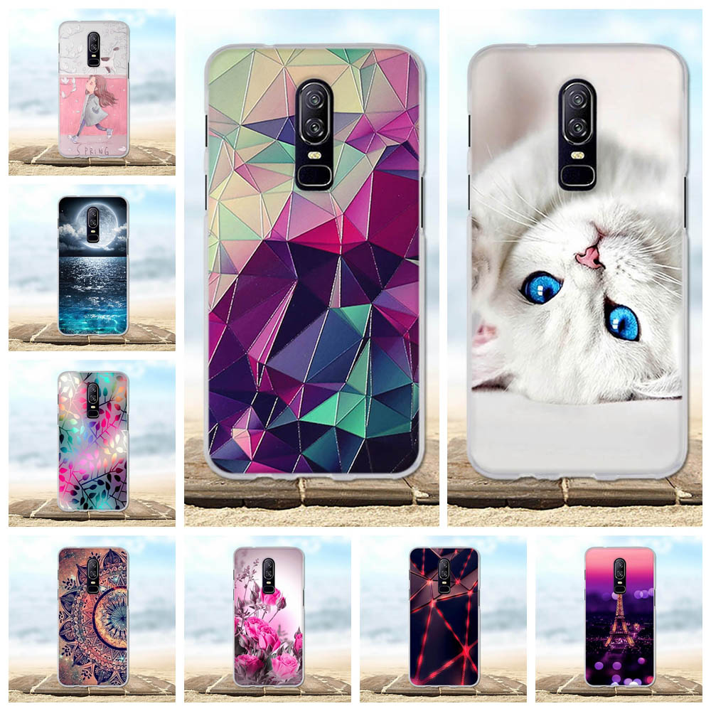 For <font><b>Oneplus</b></font> <font><b>6</b></font> <font><b>Case</b></font> Silicone Soft TPU Cover For one plus <font><b>6</b></font> <font><b>Case</b></font> <font><b>3D</b></font> Flower Cat Pattern Bag For 1+<font><b>6</b></font> <font><b>oneplus</b></font> <font><b>6</b></font> <font><b>6</b></font>.28 inch Phone <font><b>Cases</b></font> image
