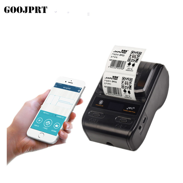 58mm bluetooth thermal label printer sticker wireless barcode