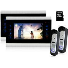 Homefong 10″ Video Door Intercom Door Phone Recording Doorbell Camera Intercom 10 Inch 1200TVL HD Additional Monitor Support 2V2