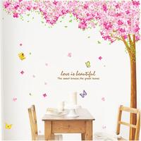 Duplex Cherry tree vinyl wall stickers for kids rooms home decor decal Poster Mural Papers for wall free shipping