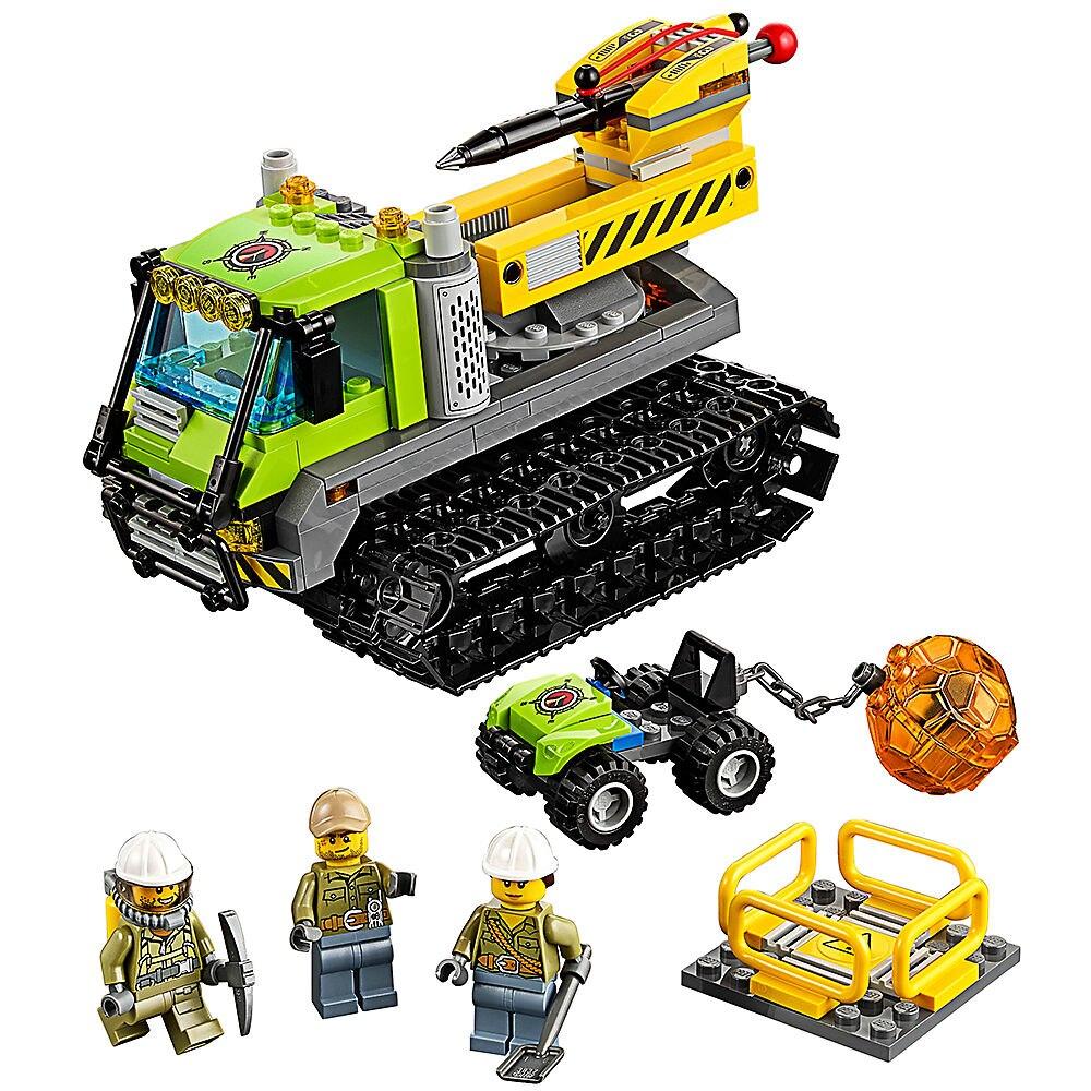 Volcano Crawler 350pcs Building Blocks Compatible Legoe City Volcano Explorers Toys For Childrens Kid Gift Bricks Model