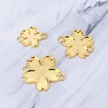 10Pcs Double-Side Cherry Flower UV Frame Connectors Charm Resin Jewelry Making