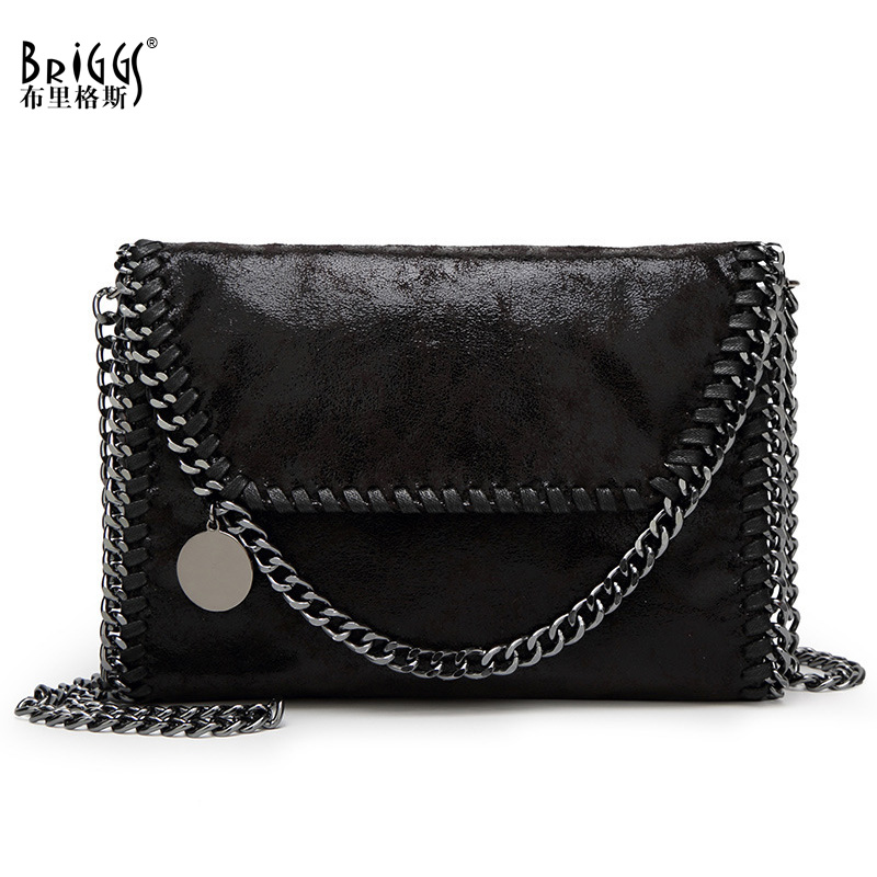 Vintage Chains Women Messenger Bag High Quality PU Leather Female Shoulder Bag Causal Flap Bag Ladys Crossbody Bag