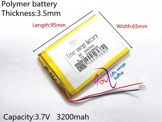 Drei draht battery.3.7V 3200 mah (polymer lithium ionen akku) li ion ...