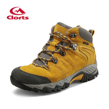 016 Clorts Woman Hiking Shoes Breathable Suede Outdoor Sport Shoes Waterproof Mid-cut Hiking Boots HKM-822B/C//F