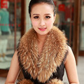 Real Fox Fur Collar Winter Warm Fox Fur Collar for Women's Coat Fur Scarf Muffler Scarf Shawl Collar Natural Fur Collar S#14