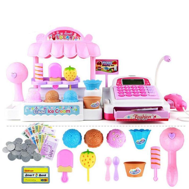 Pretend Play Ice Cream Store Cash Register Set Kids Play Game Toy Plastic ~~SalePretend Play Ice Cream Store Cash Register Set Kids Play Game Toy Plastic ~~Sale
