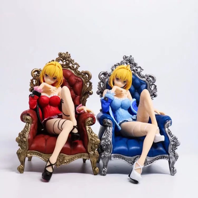 Free Shipping 6 Fate Stay Night FSN Saber Nero Sit on Chair 2 Color Boxed 16cm PVC Action Figure Model Doll Toys Gift le fate топ