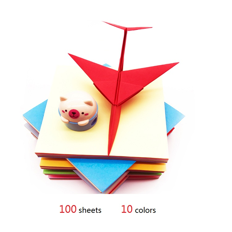 15cm *15cm  80g  100sheets Handmade Small DIY Color Paper Origami Craft  Papers Lucky Star