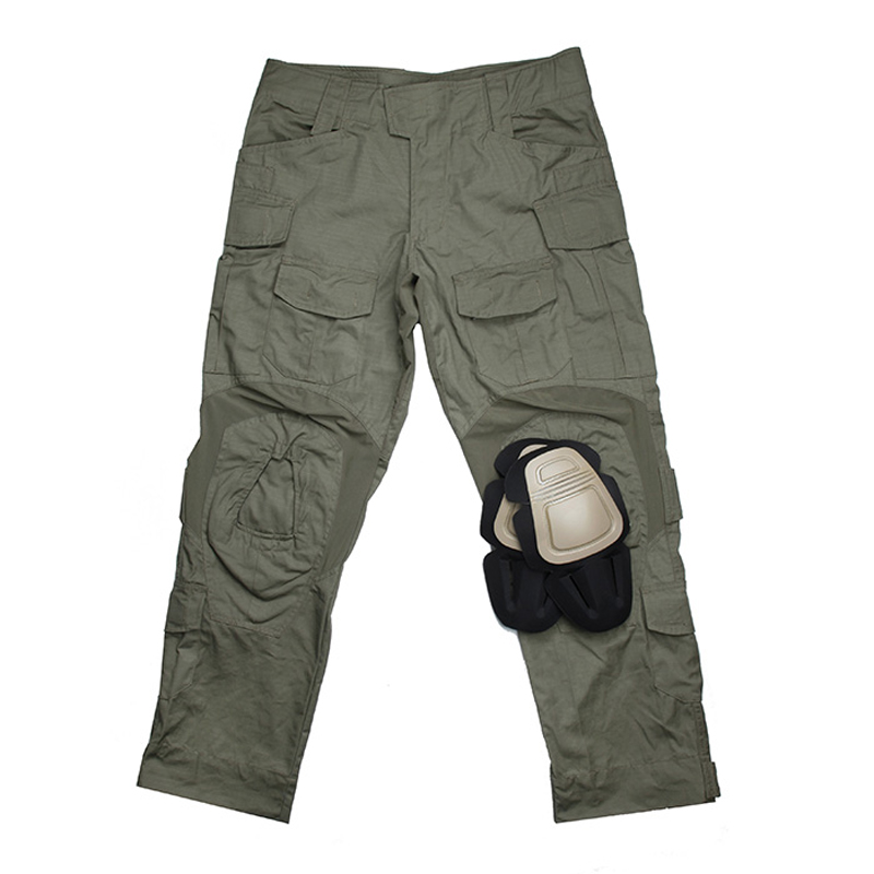 airsoft paintball CS wargame accessories <font><b>G3</b></font> tactical training <font><b>pants</b></font> military <font><b>pants</b></font> with knee pad set <font><b>combat</b></font> uniform for hunting image